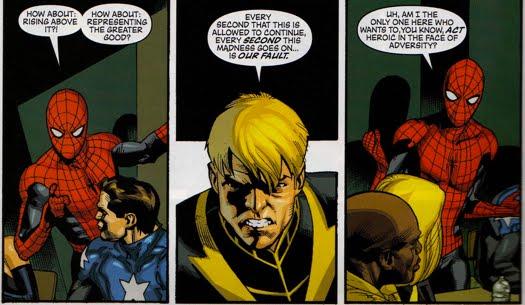 Spider-Man throughout Norman's Dark Reign - The Green